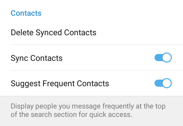 MANAGING SYNCED CONTACTS