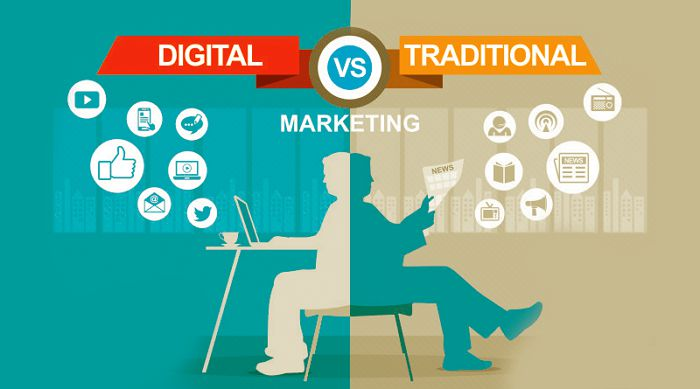 difference between offline marketing and digital marketing