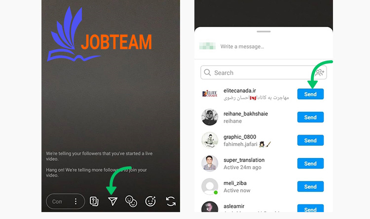 learn to direct instagram live for friends